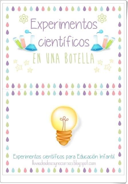 """""""Experimentos científicos en una botella III"""" (Plantas)"""