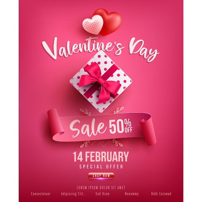 fun valentines day ideas Valentine day sale poster pink vector template free vector