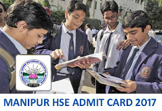 Manipur HSE Admit Card 2017, COHSEM Class 12 Seat Number List