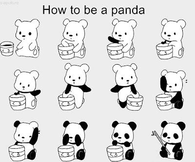 Como ser un oso panda