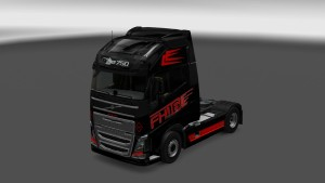 Red & Black skin for Volvo 2012