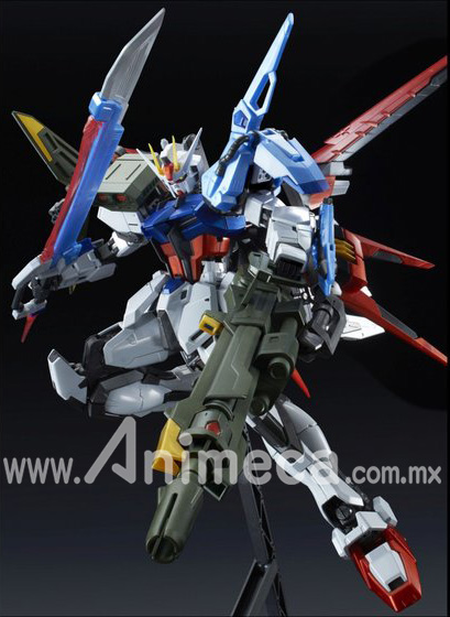 Perfect Srike Gundam Special Coating Ver. AT-X105 + AQM/E-YM1 Master Grade (MG) 1/100 Model Kit Mobile Suit Gundam SEED