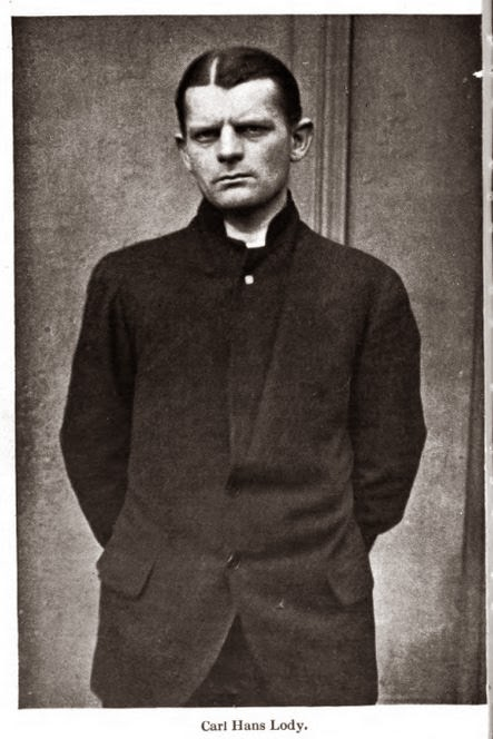 Executed World War I German spy, Carl Hans Lody.
