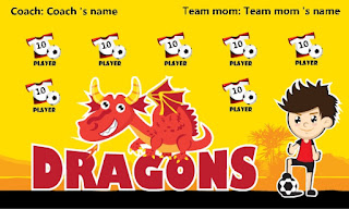 """Top team name beginning with the letter """"D"""" in soccer banners"""