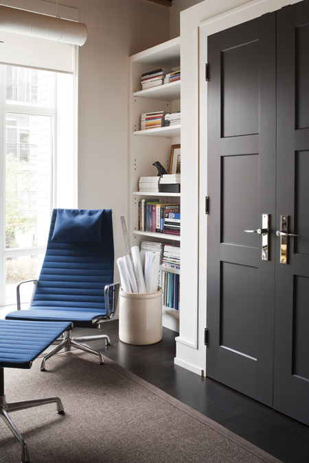 The Boston Teacup Black Interior Doors