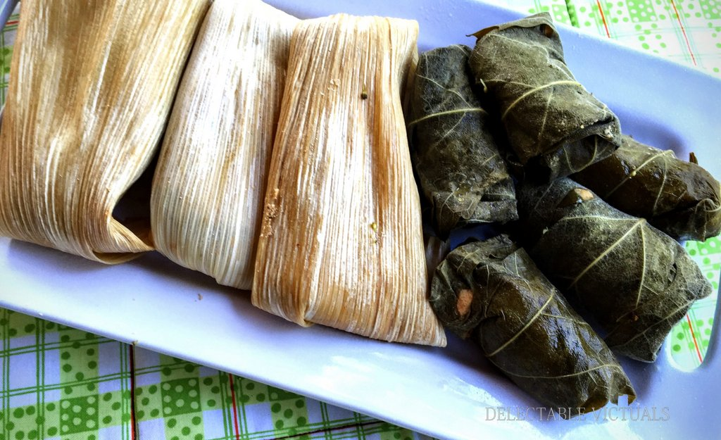 Cassava Stuffed Tamales and Dolmas