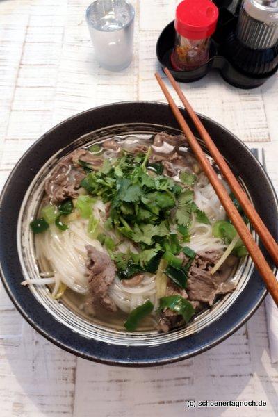 Pho Bo im Asiarestaurant Saigon in Karlsruhe