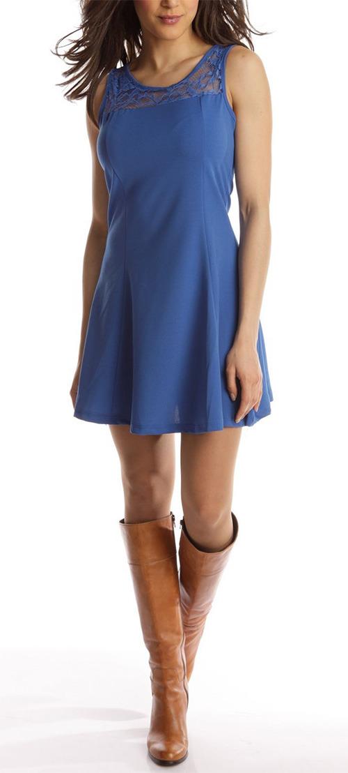 Robe courte bleu Le Dressing Zoé