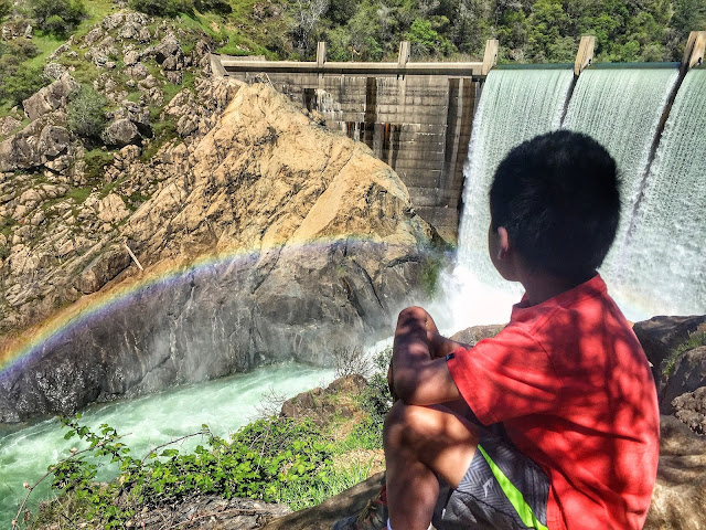 Rainbow at the North Fork Dam