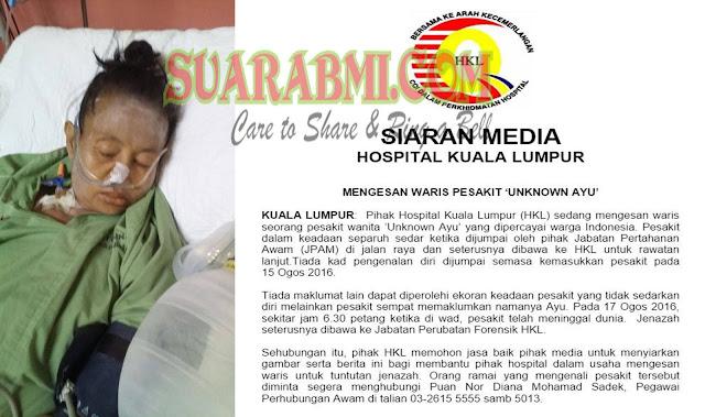 TKW Meninggal Di Malaysia Tanpa Data,  Sebarkan Agar Keluarga Tahu