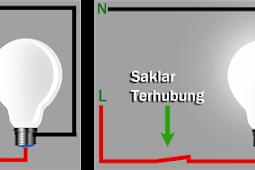 Pemasangan Saklar Lampu Double