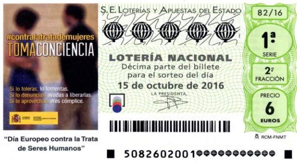 loteria nacional del sabado 15 de octubre de 2016, sorteo 82