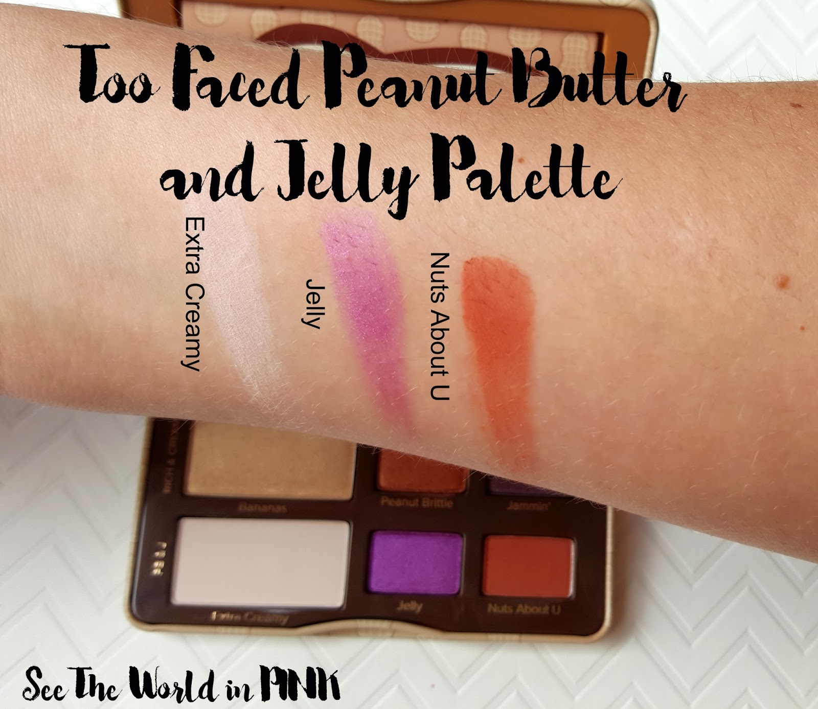 Too Faced Peanut Butter and Jelly Palette - Review, Swatches and a Makeup Look!