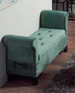banco tapizado vintage recibidor