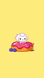 papel de parede wallpaper background fundo de tela kawaii fofo cachorrinho donuts