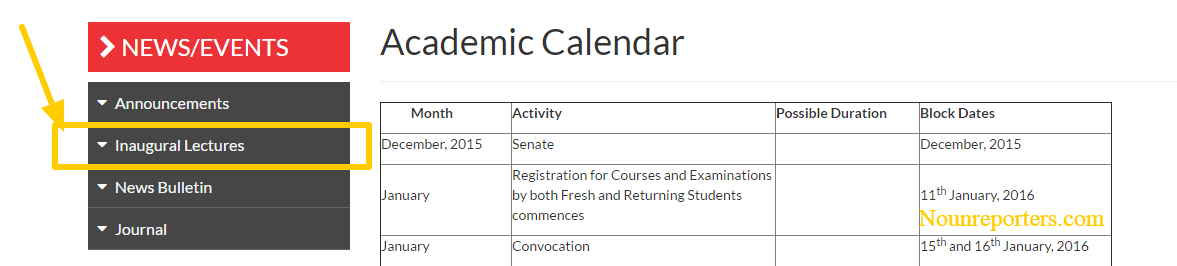 noun academic calendar 2017 2018 session approved calendar