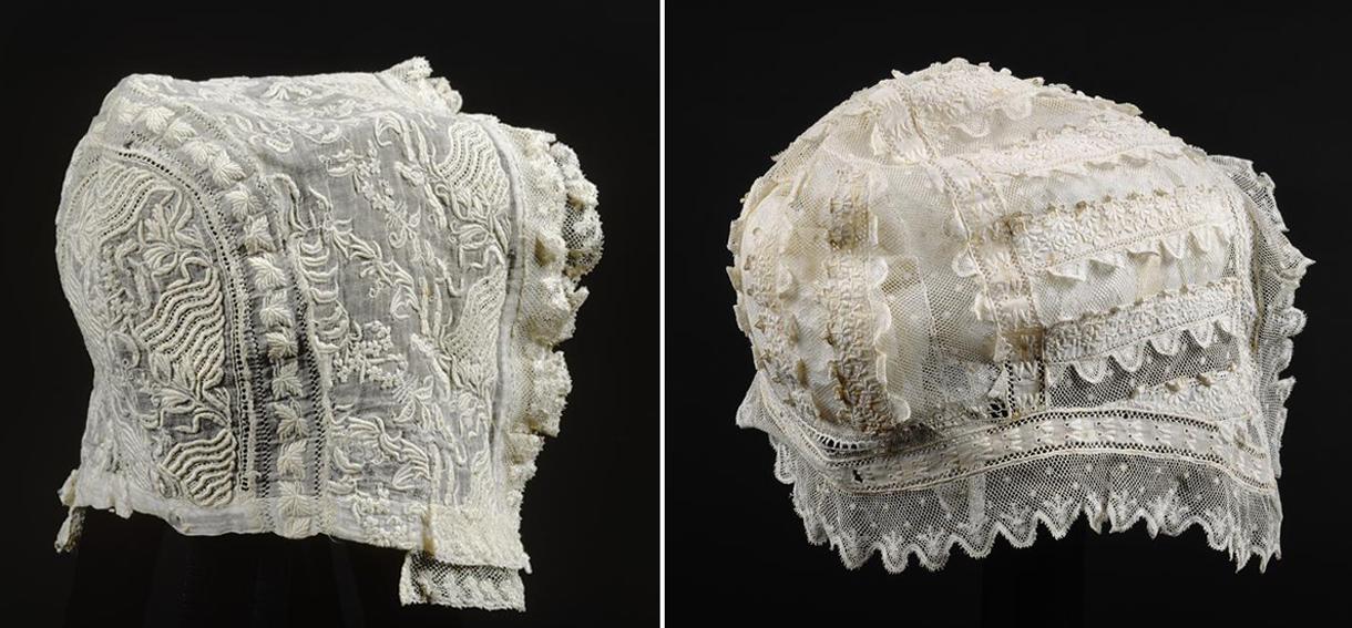 efc87948e7ff Ancienne dentelle bébé Bonnet Cap - c début des années 1900