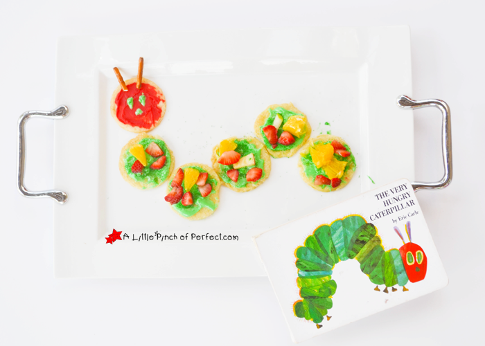 Baking with Kids: The Very Hungry Caterpillar Fruit Pizza (Cookies) -
