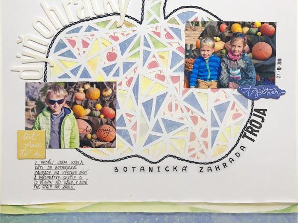 Paper Garden - Podzimní layout s dýní
