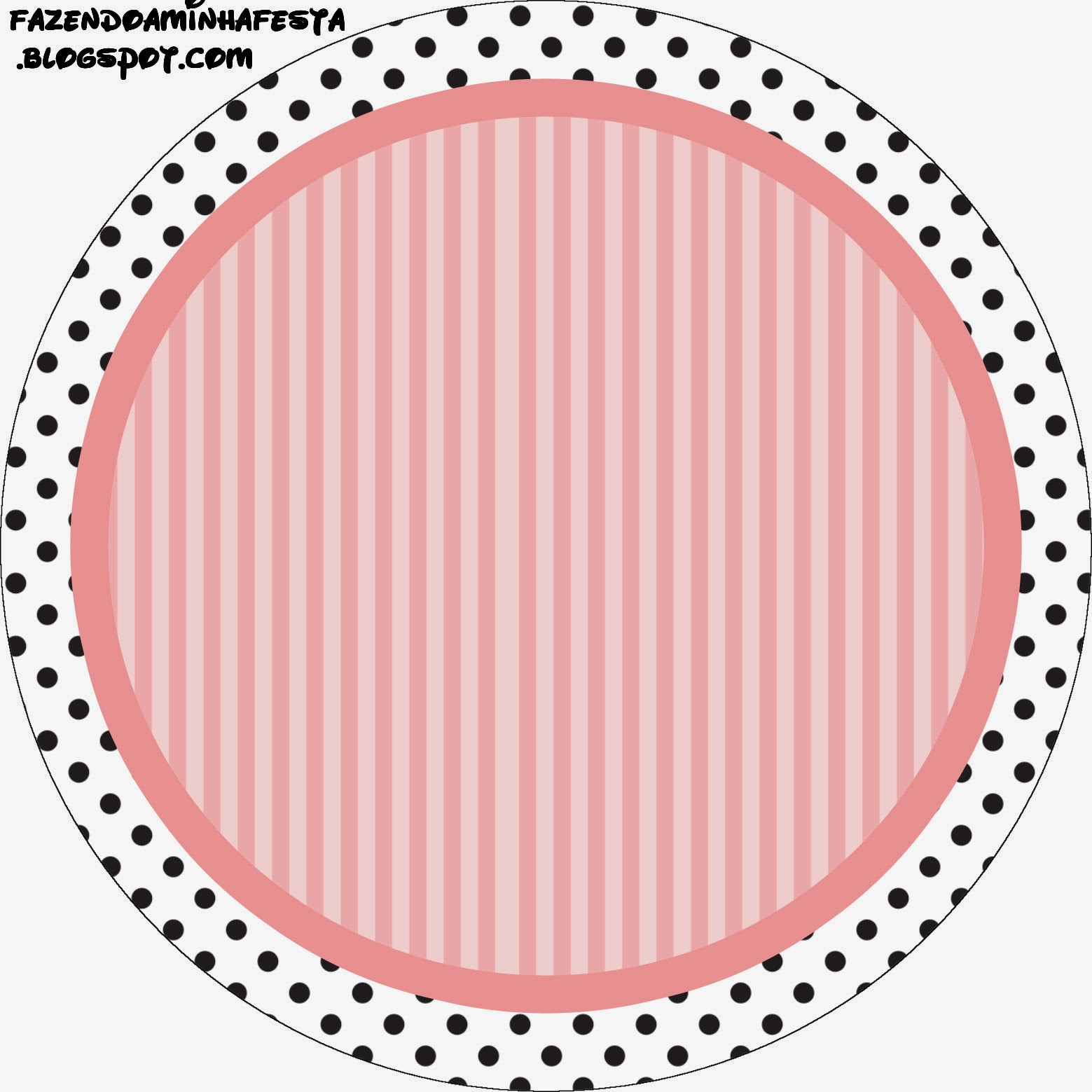 Pink White And Black Stripes And Polka Dots Free