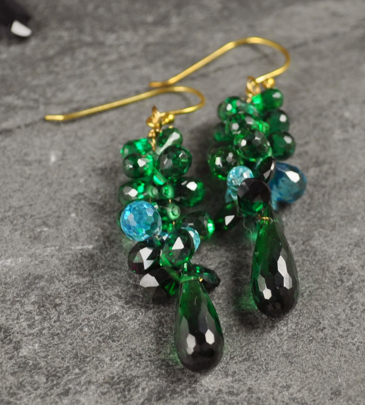 The Beadful Life @ BeadFX: Cluster Drops - A new way to make earrings