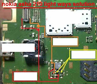 Nokia 210 lampu lcd tanpa transistor