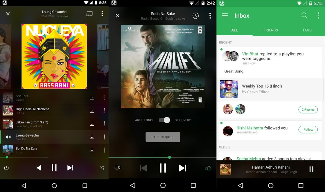 Saavn Music & Radio - Screenshots