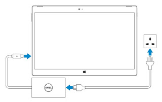 How to charging the DELL XPS 12
