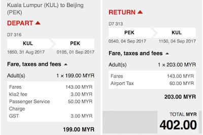 AirAsia Sale Cheap Seat Flight Ticket KL Beijing