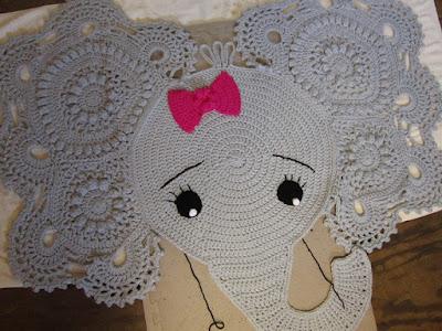 elephant, rug, crochet