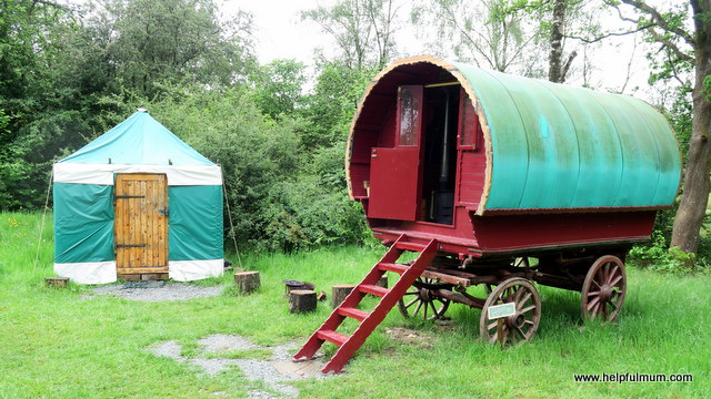 glamping in a gypsy caravan