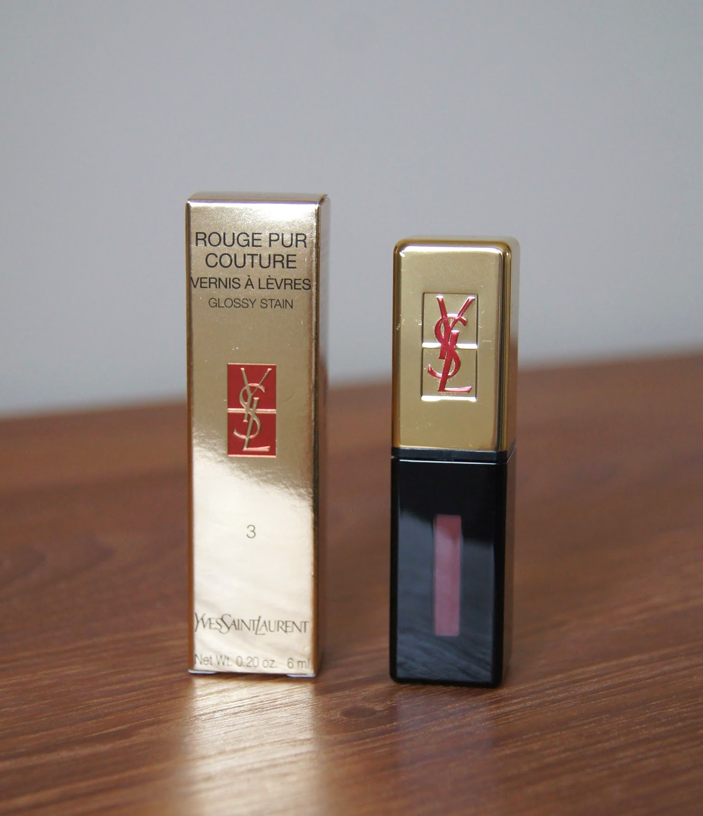 ysl pur couture glossy stain 3 brun cachemire review