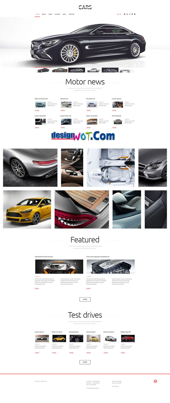 Motor News Responsive WordPress Theme