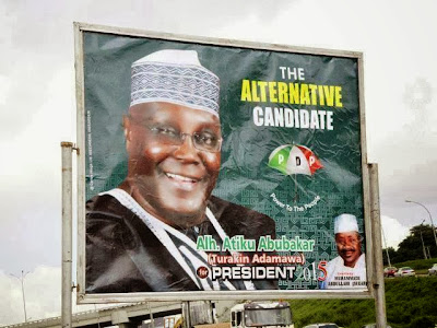 atiku presidential election campaign poster