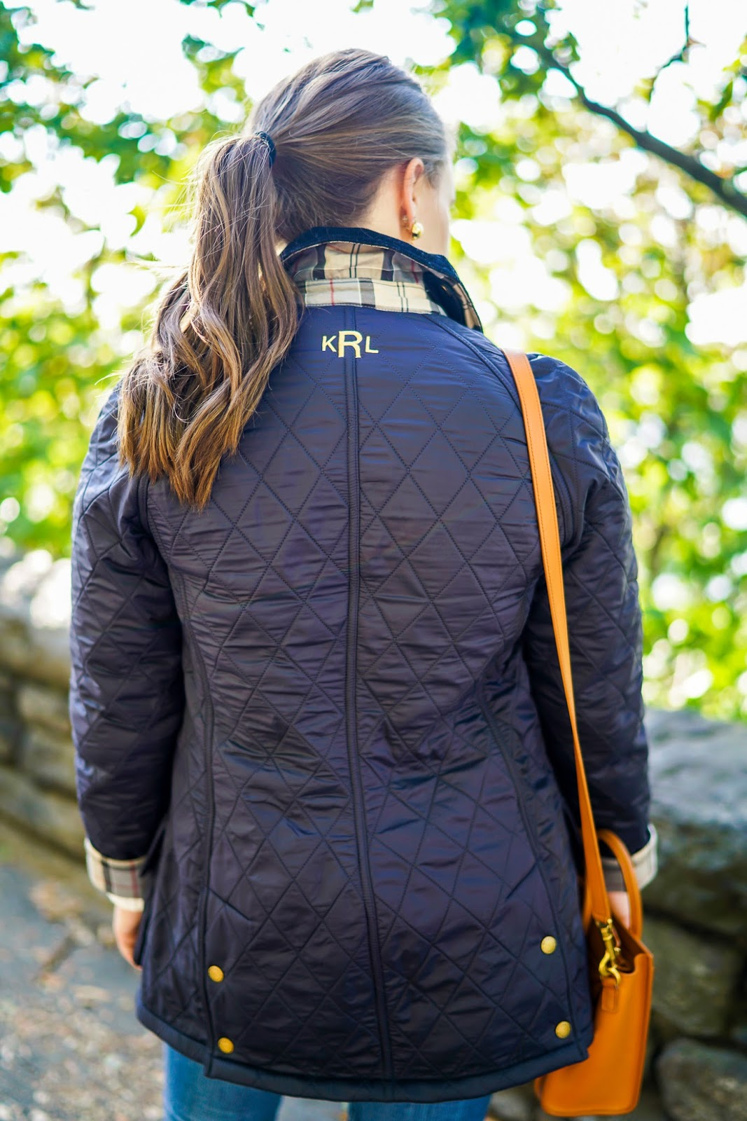 Barbour Quilted Jacket, monogrammed jackets