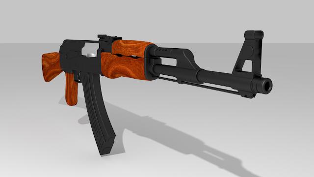 modello mitragliatrice AK 47 - Model 3D