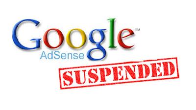 Adsense saya di suspend