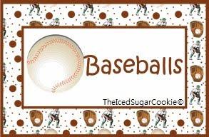 Baseball Food Cards