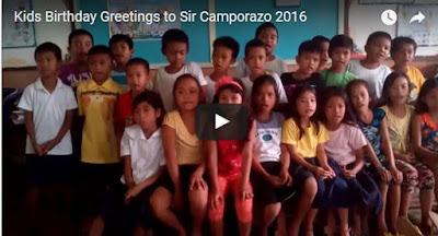Kids birthday greetings to Sir Camporazo