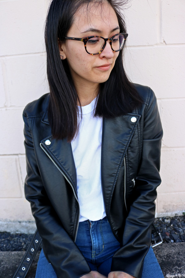 Leather Jacket, White T-shirt