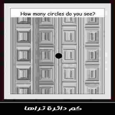 كم دائرة تراها في هذه الصورة؟