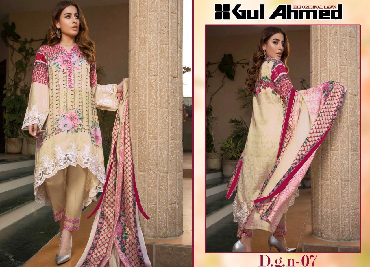 cccc35477a Gul ahmed Original lawn Pakistani Suits wholesale Surat and Mumbai, Delhi