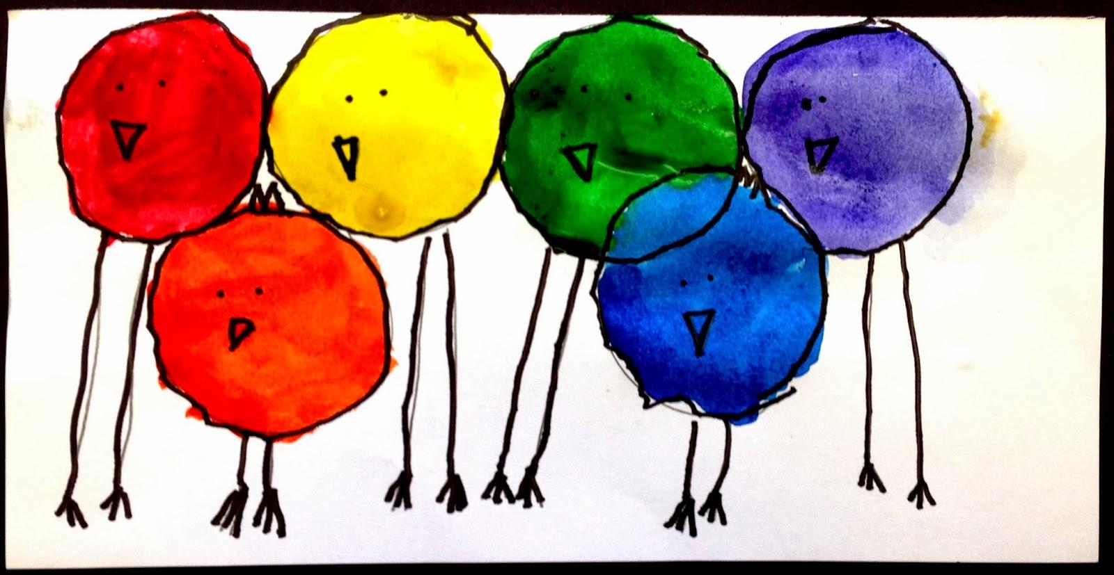 Kinder Color Birds