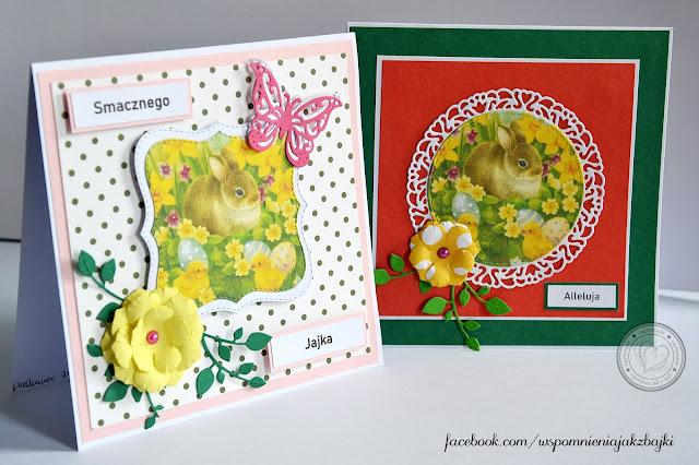 Kartki Wielkanocne z króliczkiem
