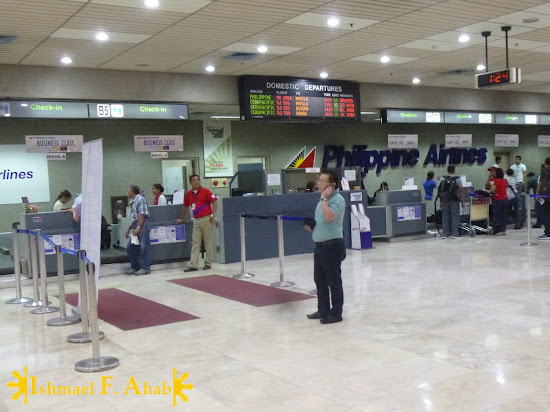 Check-in counters in Mactan Cebu International Airport