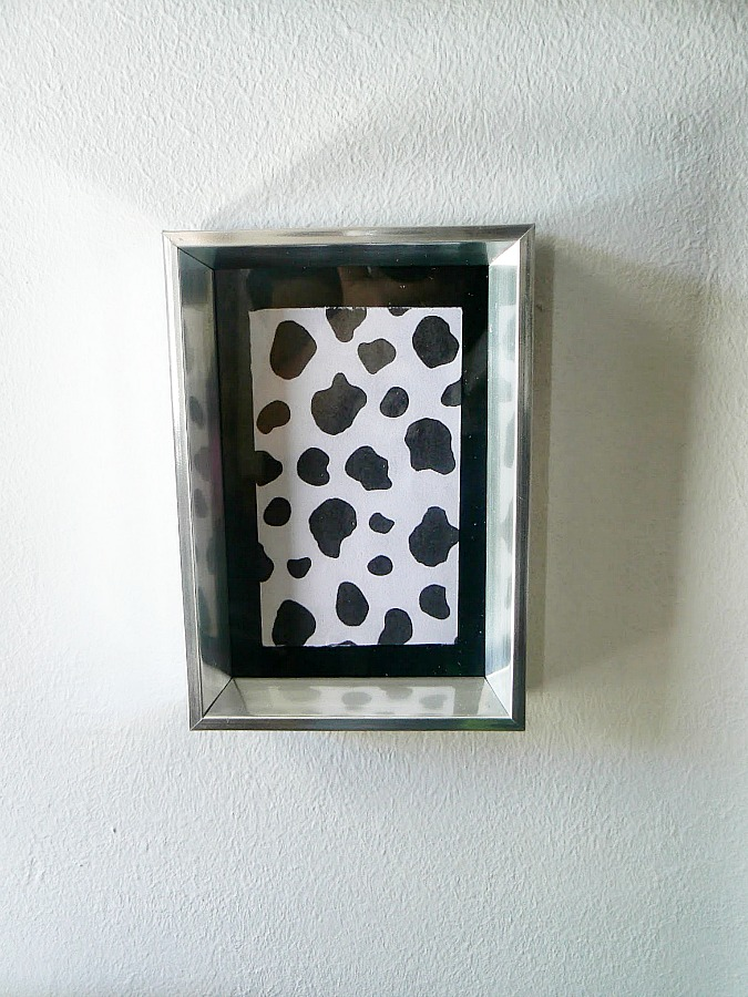 Animal print in small frame