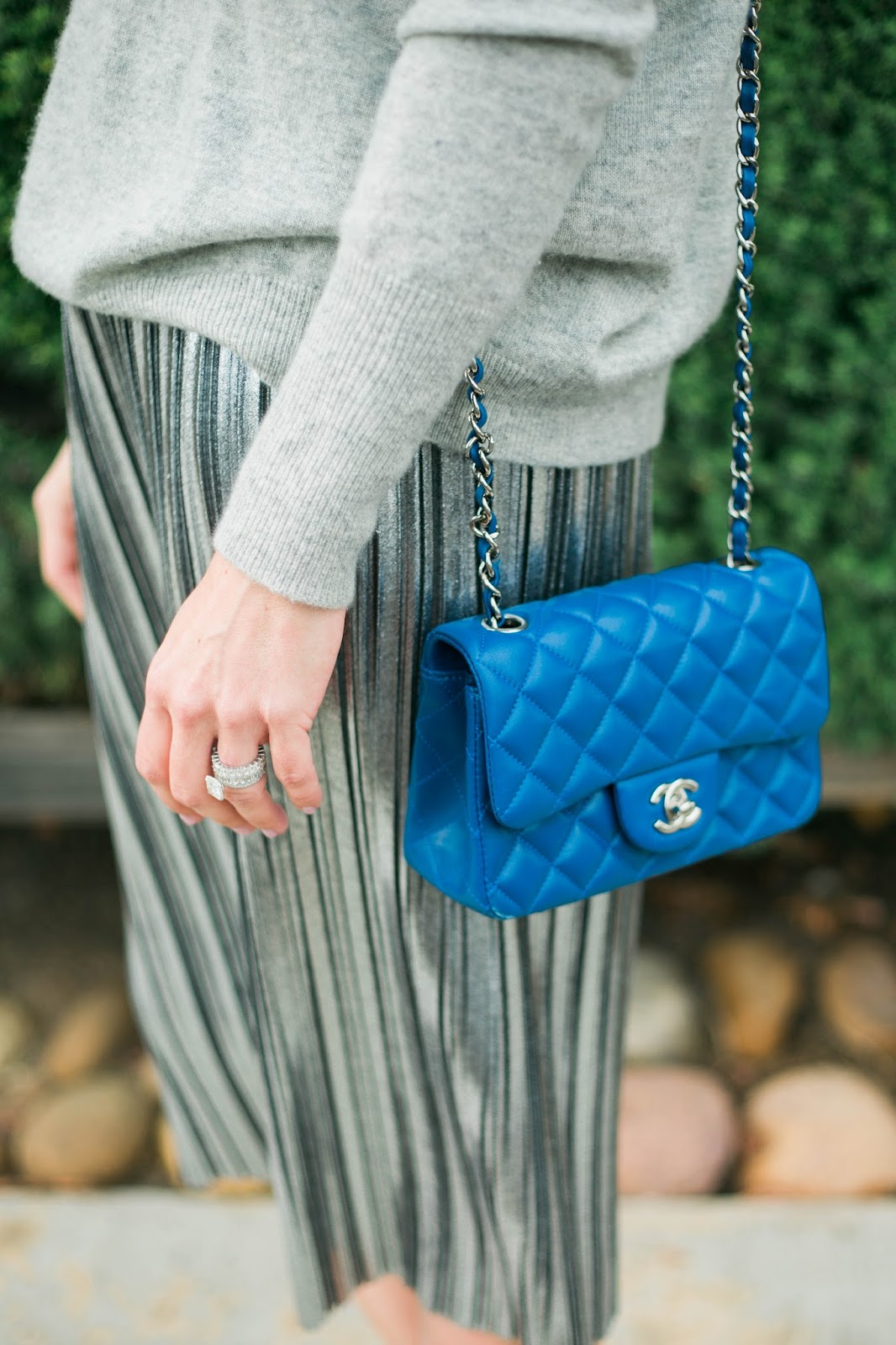 blue chanel crossbody