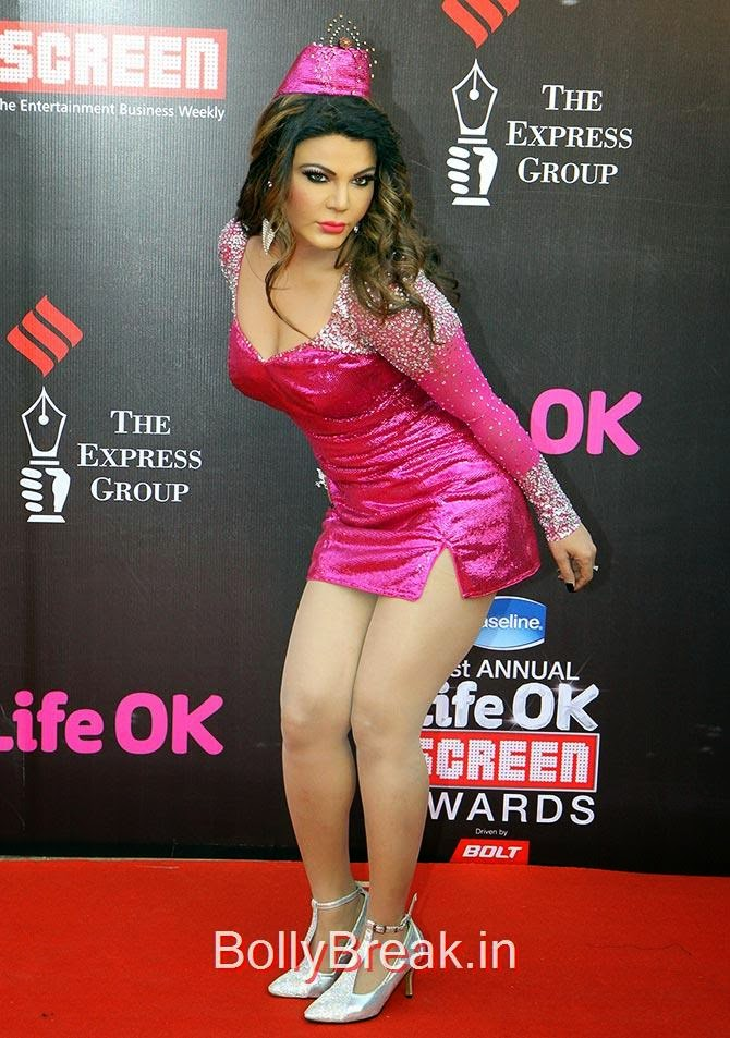 Rakhi Sawant, Life Ok Screen awards 2015 Red Carpet Hot Pics