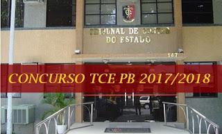 edital concurso TCEPB 2018