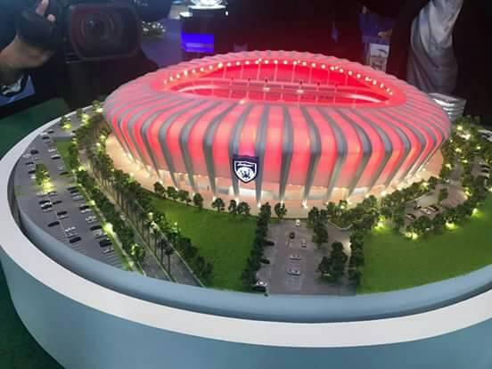 tmj lancar reka bentuk stadium baru